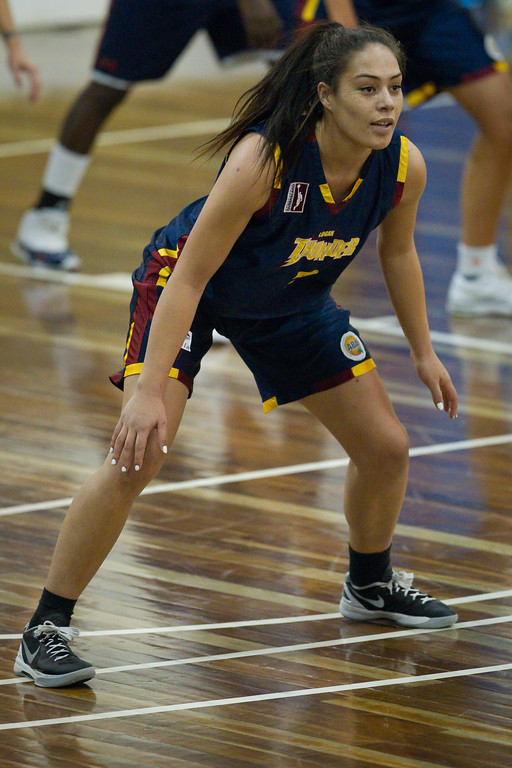 "Ash Taia - Logan Thunder v Auburn University Tigers Women's Basketball; Auchenflower, Brisbane, Queensland, Australia; 07 August 2012. Photos by Des Thureson - <a href=""http://disci.smugmug.com"">http://disci.smugmug.com</a>."