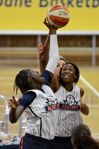 Cabriana Capers - Logan Thunder v Auburn University Tigers Women's Basketball; Auchenflower, Brisbane, Queensland, Australia; 07 August 2012. Photos by Des Thureson - http://disci.smugmug.com.