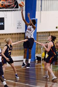 Izzy Chilcott, Hasina Muhammed, Holly Smith - Logan Thunder v Auburn University Tigers Women's Basketball; Auchenflower, Brisbane, Queensland, Australia; 07 August 2012. Photos by Des Thureson - http://disci.smugmug.com.