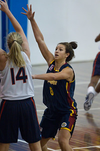 Emma Langford - Logan Thunder v Auburn University Tigers Women's Basketball; Auchenflower, Brisbane, Queensland, Australia; 07 August 2012. Photos by Des Thureson - http://disci.smugmug.com.