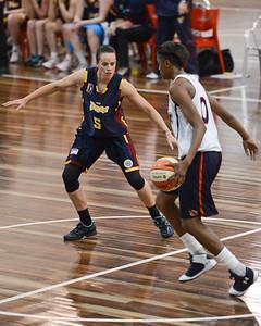 Kristen Veal, Hasina Muhammed - Logan Thunder v Auburn University Tigers Women's Basketball; Auchenflower, Brisbane, Queensland, Australia; 07 August 2012. Photos by Des Thureson - http://disci.smugmug.com.