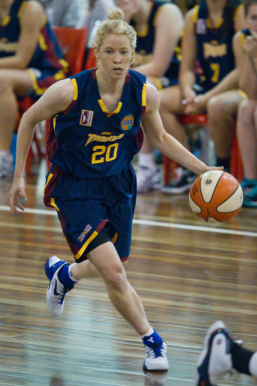"Izzy Chilcott - Logan Thunder v Auburn University Tigers Women's Basketball; Auchenflower, Brisbane, Queensland, Australia; 07 August 2012. Photos by Des Thureson - <a href=""http://disci.smugmug.com"">http://disci.smugmug.com</a>."