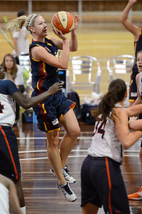 Carine Reimink - Logan Thunder v Auburn University Tigers Women's Basketball; Auchenflower, Brisbane, Queensland, Australia; 07 August 2012. Photos by Des Thureson - http://disci.smugmug.com.