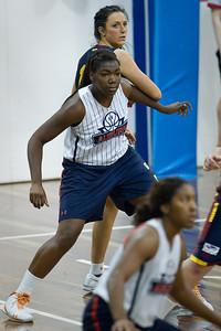 Nicole Tanner, Rachel Pryor - Logan Thunder v Auburn University Tigers Women's Basketball; Auchenflower, Brisbane, Queensland, Australia; 07 August 2012. Photos by Des Thureson - http://disci.smugmug.com.