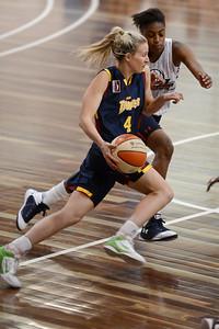 Mikhaela Donnelly, Hasina Muhammed - Logan Thunder v Auburn University Tigers Women's Basketball; Auchenflower, Brisbane, Queensland, Australia; 07 August 2012. Photos by Des Thureson - http://disci.smugmug.com.