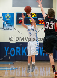 Madison @ Yorktown Boys JV Basketball (18 Dec 2015)