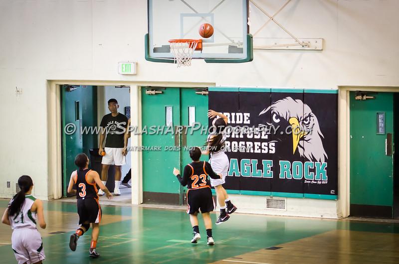 2015 Eagle Rock Girls Basketball vs Lincoln Tigers