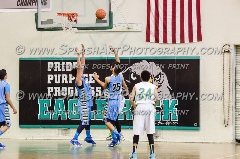 2015 Eagle Rock Boys Basketball vs Wilson Mules