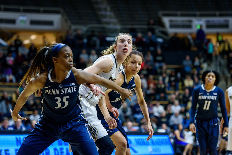 during Purdue's 64-51 victory over Penn State on Jan. 7 in Mackey Arena.