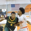 Seneca's Kareem Mathhew blows past Rajuan Stevens of Rockville.