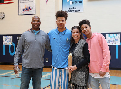 Yorktown Basketball Senior Night (06 Feb 2018)
