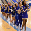The Gaithersburg Trojan cheerleaders during the National Anthem.