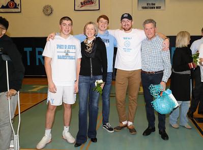 Yorktown Boys Basketball Senior Night (25 Jan 2019)