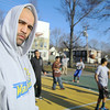 Albert Ortiz one of the coaches for the Central MA Warriors, a new AAU basketball team, talks about his life and the kids, in his program, at the Green Street Park on Wednesday afternoon. SENTINEL & ENTERPRISE/JOHN LOVE