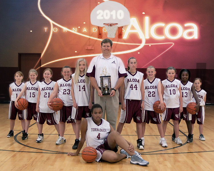 AES-AMS Basketball Team 2010  (8x10)
