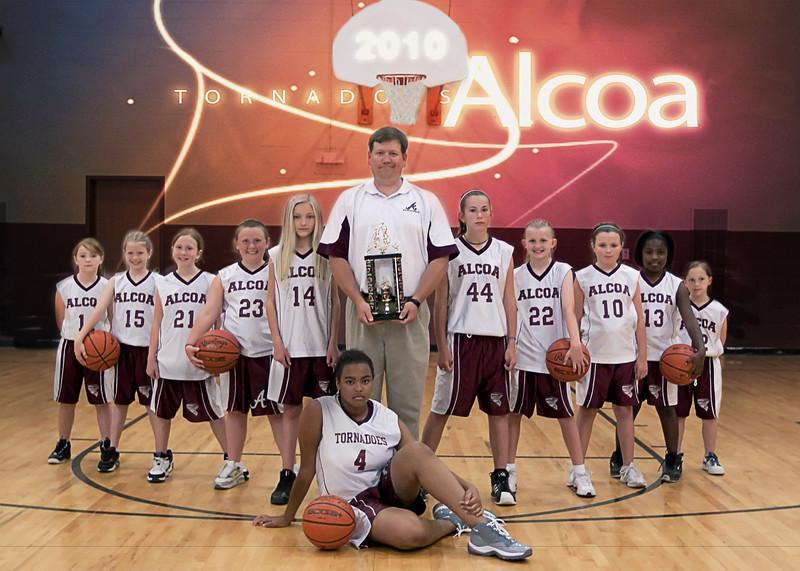 AES-AMS Basketball Team 2010  (5x7)
