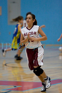 Semi Finals for AES-AMS Basketball Tournament against Porter. Alcoa won 34 - Porter 15.