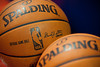 Feb 25, 2013; Auburn Hills, MI, USA; A detailed view of basketballs before the game between the Detroit Pistons and the Atlanta Hawks at The Palace. Mandatory Credit: Tim Fuller-USA TODAY Sports