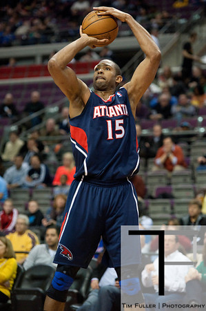 Feb 25, 2013; Auburn Hills, MI, USA; Atlanta Hawks center Al Horford (15) during the second quarter against the Detroit Pistons at The Palace. Mandatory Credit: Tim Fuller-USA TODAY Sports