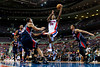 Feb 25, 2013; Auburn Hills, MI, USA; Detroit Pistons shooting guard Kim English (24) goes to the basket against the Atlanta Hawks during the fourth quarter at The Palace. Atlanta won 114-103. Mandatory Credit: Tim Fuller-USA TODAY Sports