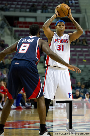 Oct 26, 2012; Auburn Hills, MI, USA; Detroit Pistons power forward Charlie Villanueva (31) during the fourth quarter against the Atlanta Hawks at The Palace. Detroit won 104-88. Mandatory Credit: Tim Fuller-US PRESSWIRE