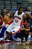 Oct 26, 2012; Auburn Hills, MI, USA; Detroit Pistons point guard Will Bynum (12) drives to the basket against the Atlanta Hawks during the second quarter at The Palace. Mandatory Credit: Tim Fuller-US PRESSWIRE