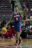 Oct 26, 2012; Auburn Hills, MI, USA; Atlanta Hawks shooting guard Louis Williams (3) calls out a play during the first quarter against the Detroit Pistons at The Palace. Mandatory Credit: Tim Fuller-US PRESSWIRE