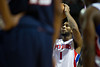 Oct 26, 2012; Auburn Hills, MI, USA; Detroit Pistons power forward Andre Drummond (1) shoots a free throw during the game against the Atlanta Hawks at The Palace. Detroit won 104-88. Mandatory Credit: Tim Fuller-US PRESSWIRE