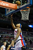 Oct 26, 2012; Auburn Hills, MI, USA; Detroit Pistons power forward Charlie Villanueva (31) lays it up during the fourth quarter against the Atlanta Hawks at The Palace. Detroit won 104-88. Mandatory Credit: Tim Fuller-US PRESSWIRE