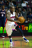 Oct 26, 2012; Auburn Hills, MI, USA; Detroit Pistons point guard Rodney Stuckey (3) drives to the basket against the Atlanta Hawks during the fourth quarter at The Palace. Detroit won 104-88. Mandatory Credit: Tim Fuller-US PRESSWIRE