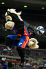 Oct 26, 2012; Auburn Hills, MI, USA; Detroit Pistons mascot Hooper during a timeout during the game against the Atlanta Hawks at The Palace. Detroit won 104-88. Mandatory Credit: Tim Fuller-US PRESSWIRE