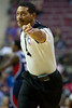 Oct 26, 2012; Auburn Hills, MI, USA; NBA referee Bill Kennedy (55) during the game between the Detroit Pistons and the Atlanta Hawks at The Palace. Mandatory Credit: Tim Fuller-US PRESSWIRE