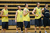 Ben Castle, Mattie Campbell, Mattie Nielsen, Paul Rogers & David Stiff observe proceedings - Boomers' Basketball - Public Pre-Olympic  Training Session, 29 May 2004; Gold Coast, Queensland, Australia.