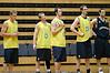 Ben Castle, Mattie Campbell, Mattie Nielsen, Paul Rogers & David Stiff observe proceedings - Boomers' Basketball - Public Pre-Olympic  Training Session, 29 May 2004; Gold Coast, Queensland, Australia.