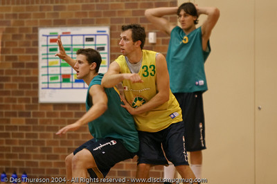 """""""Old School!"""" - Boomers Basketball Pre-Olympic Training Session 2004. Photographed by Des Thureson."""