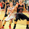 High School Basketball<br /> Circleville 75, Liberty Union 49<br /> December 23, 2014<br /> Aaron Manson (Circleville), Charlie Kilger (Liberty Union)