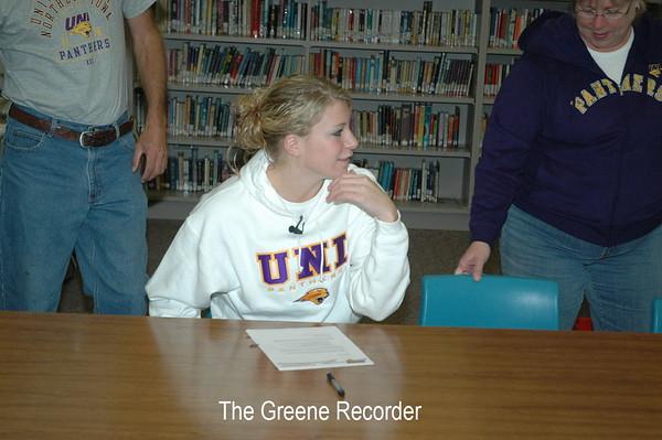 Erin Signing Letter