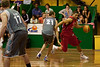 Omar Samhan takes on Greg Vanderjagt as Anthony Petrie is ready to play help-defence - Gold Coast Blaze v St Mary's - Australian National Basketball League (NBL) pre-season game, 17 August, 2009.
