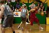 Omar Samhan takes on Greg Vanderjagt as Anthony Petrie is ready to play help-defence - Gold Coast Blaze v St Mary's - Australian National Basketball League (NBL) pre-season game, 17 August, 2009.