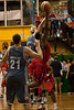 Anthony Petrie with another nice shot block - Gold Coast Blaze v St Mary's - Australian National Basketball League (NBL) pre-season game, 17 August, 2009.