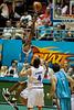 Erron Maxey with the hook shot - Blaze v 36ers 9-12-9