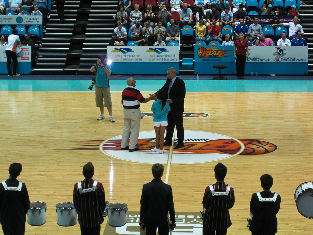 NBL CEO Larry Sengstock recognises 50 years of basketball on the Gold Coast  - NBL Basketball: Gold Coast Blaze v Melbourne Tigers at Gold Coast Convention Centre, Wednesday 14 October 2009.