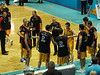 The Tigers' line-up  - NBL Basketball: Gold Coast Blaze v Melbourne Tigers at Gold Coast Convention Centre, Wednesday 14 October 2009.