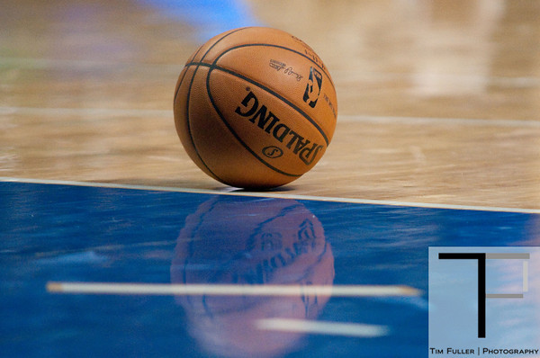 Oct 20, 2012; Auburn Hills, MI, USA; A detailed view of the basketball during the game between the Detroit Pistons and the Charlotte Bobcats at The Palace. Detroit won 85-80.  Mandatory Credit: Tim Fuller-US PRESSWIRE