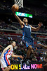 Oct 20, 2012; Auburn Hills, MI, USA; Charlotte Bobcats point guard Ramon Sessions (7) goes to the basket for a lay up during the game against the Detroit Pistons at The Palace. Mandatory Credit: Tim Fuller-US PRESSWIRE
