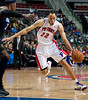 Oct 20, 2012; Auburn Hills, MI, USA; Detroit Pistons small forward Tayshaun Prince (22) drives to the basket against the Charlotte Bobcats during the game at The Palace. Detroit won 85-80.  Mandatory Credit: Tim Fuller-US PRESSWIRE