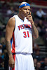 Oct 20, 2012; Auburn Hills, MI, USA; Detroit Pistons power forward Charlie Villanueva (31) during the game against the Charlotte Bobcats at The Palace. Detroit won 85-80.  Mandatory Credit: Tim Fuller-US PRESSWIRE