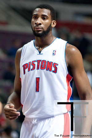 Oct 20, 2012; Auburn Hills, MI, USA; Detroit Pistons power forward Andre Drummond (1) during the game against the Charlotte Bobcats at The Palace. Mandatory Credit: Tim Fuller-US PRESSWIRE