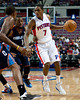 Oct 20, 2012; Auburn Hills, MI, USA;Detroit Pistons point guard Brandon Knight (7) drives to the basket against the Charlotte Bobcats during the game at The Palace. Detroit won 85-80.  Mandatory Credit: Tim Fuller-US PRESSWIRE