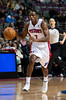 Oct 20, 2012; Auburn Hills, MI, USA; Detroit Pistons point guard Brandon Knight (7) brings the ball up court against the Charlotte Bobcats during the third quarter at The Palace. Detroit won 85-80.  Mandatory Credit: Tim Fuller-US PRESSWIRE